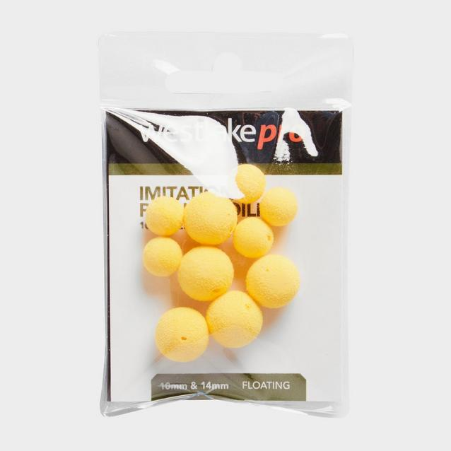 Yellow Westlake Popup Boilie 10 14mm Ylw 10Pcs image 1
