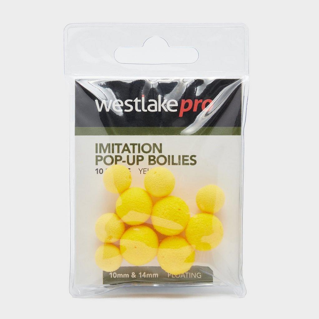 Yellow Westlake Imitation Pop-up Dumbell Yellow 12mm (10pcs) image 1