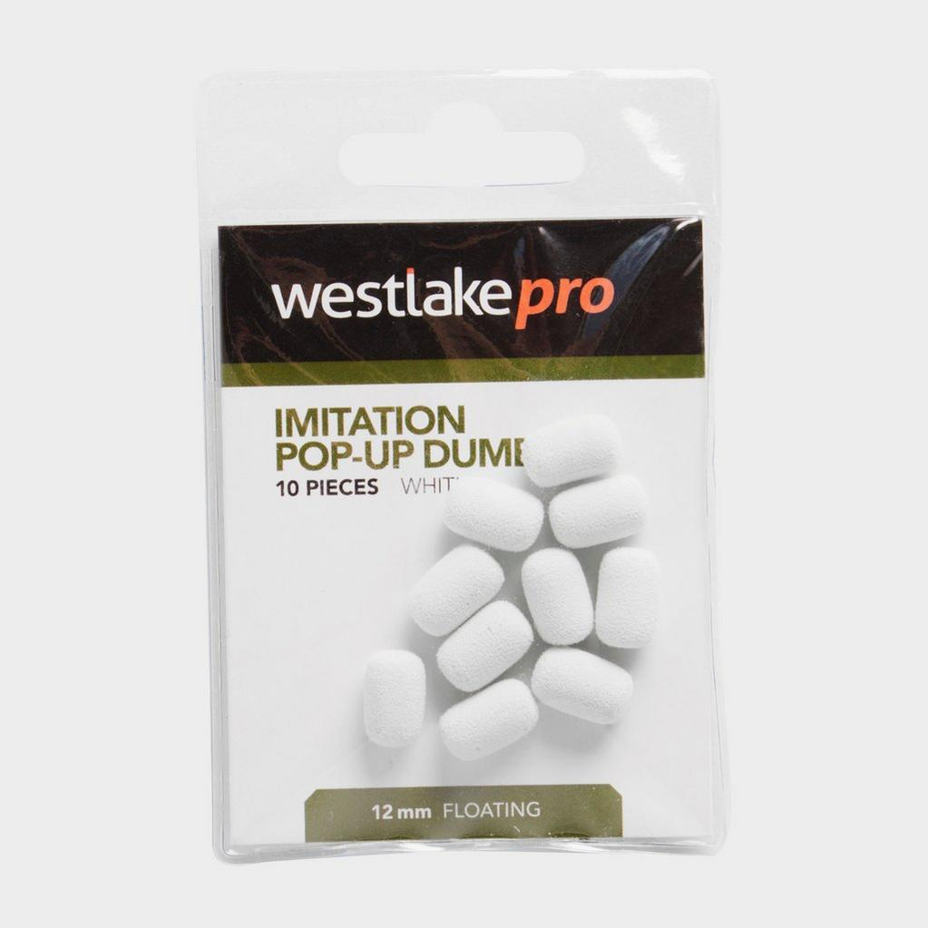 White Westlake Imitation Popup Dumbell 12mm White (10pcs) image 1