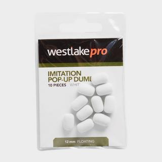 Imitation Popup Dumbell 12mm White (10pcs)