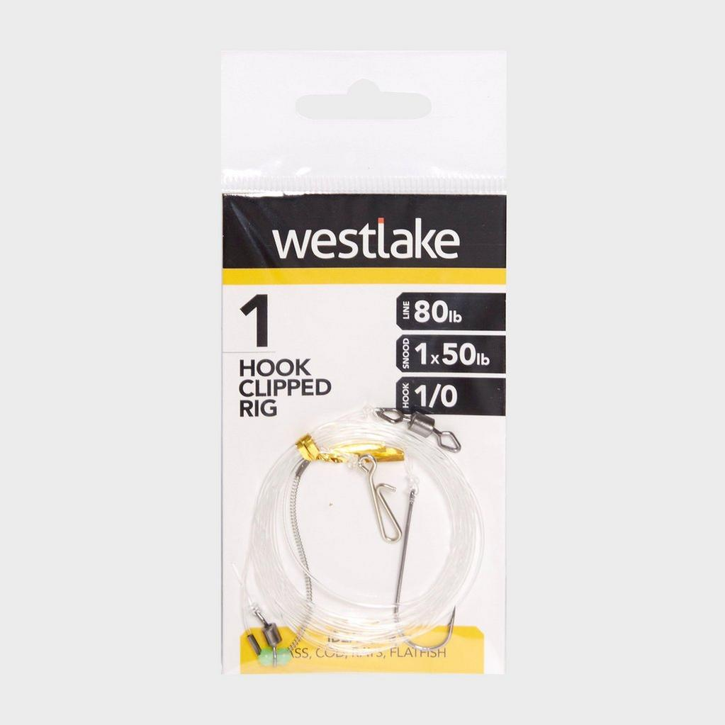 Silver Westlake 1 Hook Clipped Rig 1/0 image 1