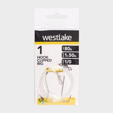 Silver Westlake 1 Hook Clipped Rig (Size 1/0)