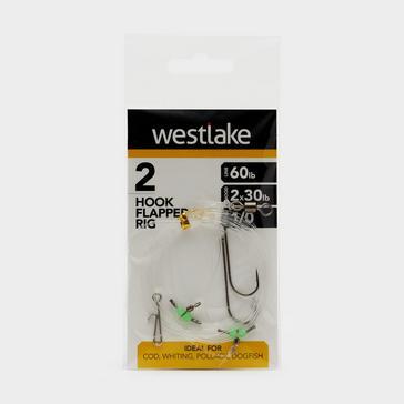 Silver Westlake 2 Hook Flapper 1/0