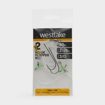 Silver Westlake 2 Hook Flapper Size 3/0