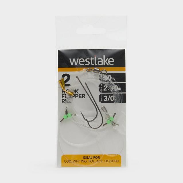 Silver Westlake 2 Hook Flapper Size 3/0 image 1