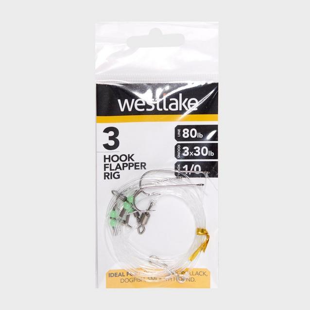 Silver Westlake 3 Hook Flapper Size 1/0 image 1