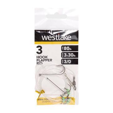 Silver Westlake 3 Hook Flapper Size 3/0
