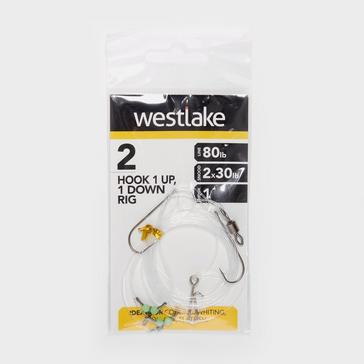 Silver Westlake 2 Hook 1Up 1Down Rig (Size 1)