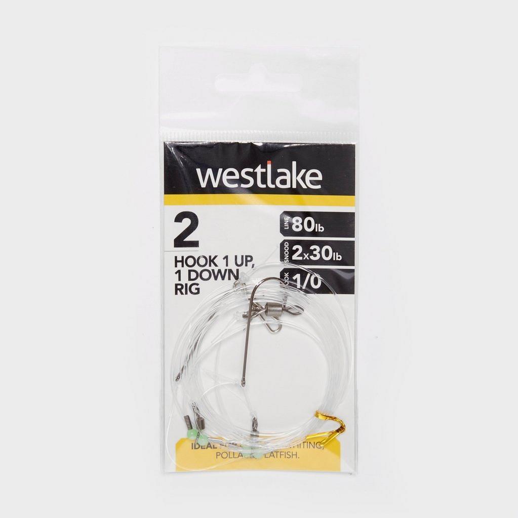 Silver Westlake 2 Hook 1Up 1Down Rig 1/0 image 1