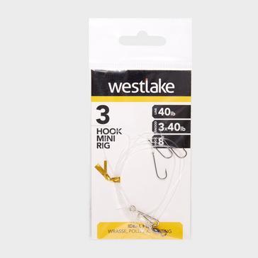 Silver Westlake 3 Hook Mini Rig 3 Up Size 8
