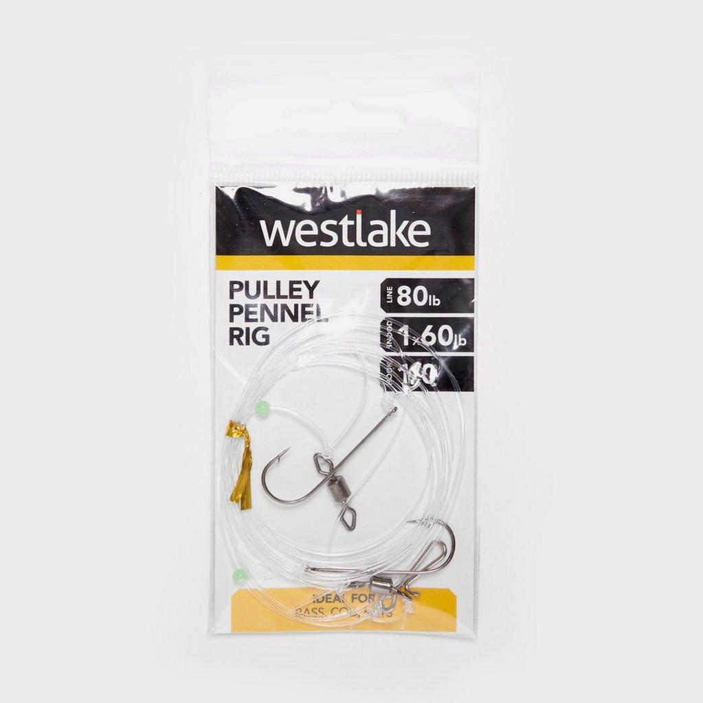 Silver Westlake 2 Hook Pulley Pennel Rig (Size 1/0) image 1