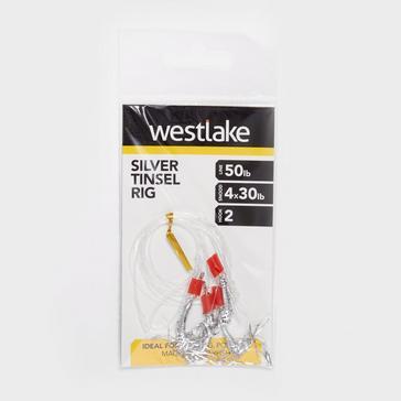 Silver Westlake 2 Hook Silver Tinsel Rig