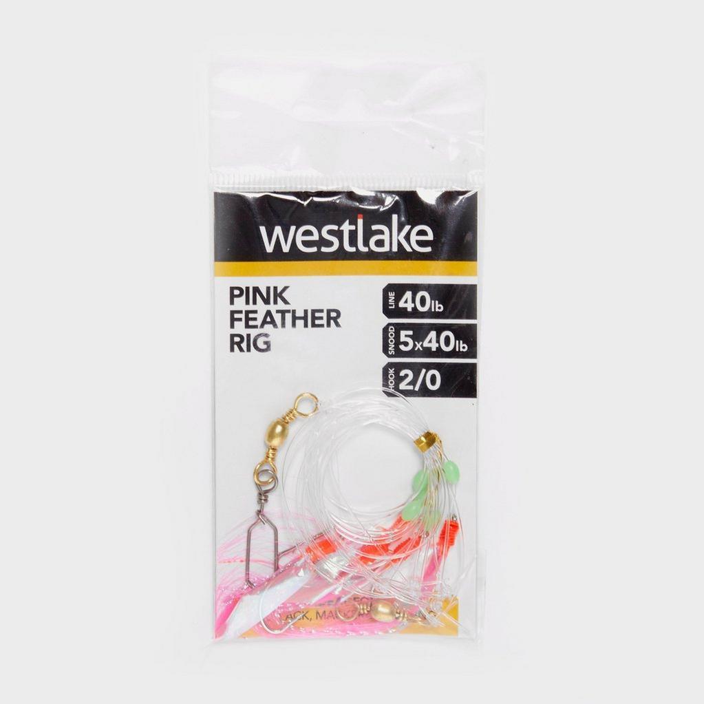 Multi Westlake 5 Pnk Flash Feather Rig 2/0 image 1