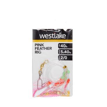 Multi Westlake 5 Pnk Flash Feather Rig 2/0