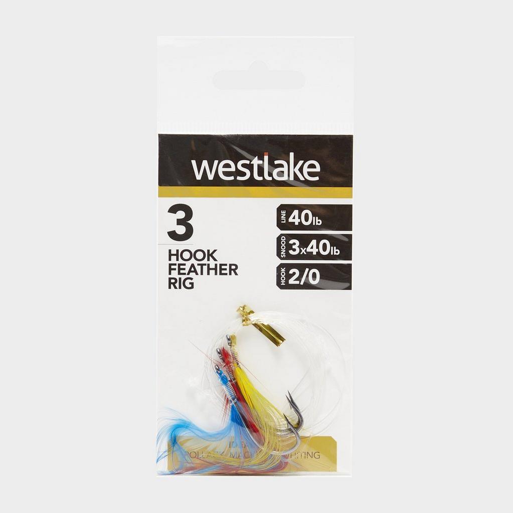 Multi Westlake 3 Hook Feather Rig 2/0 image 1
