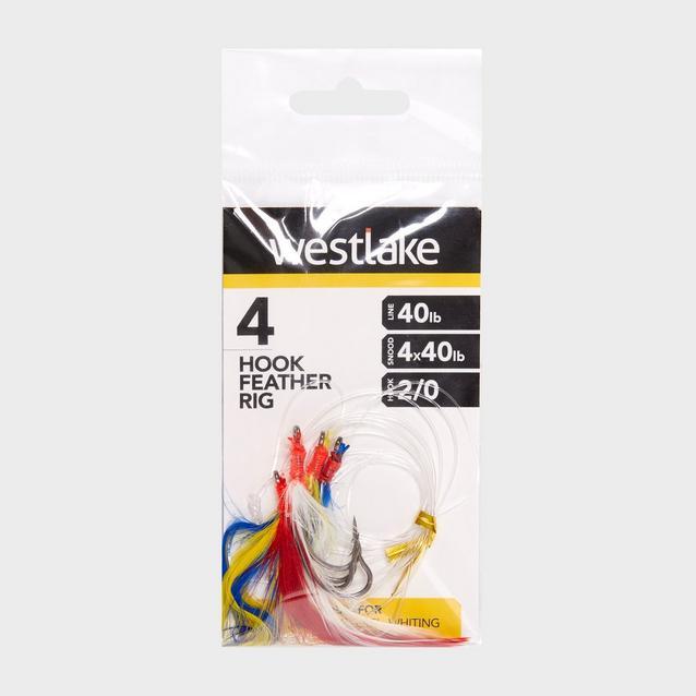 Multi Westlake 4 Hook Feather Rig 2/0 image 1