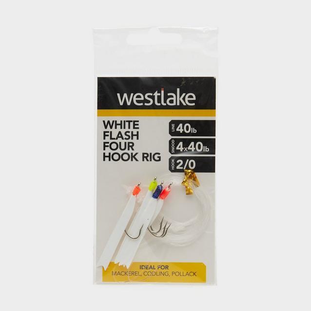 Multi Westlake 4 Hook White Flash Rig 2/0 image 1