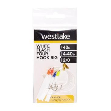 Multi Westlake 4 Hook White Flash Rig 2/0