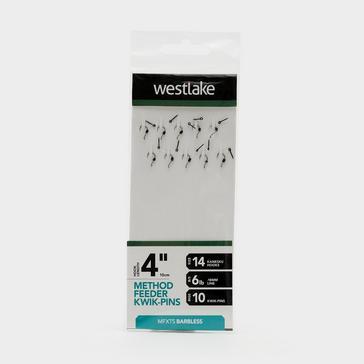 """Silver Westlake Method Feeder Kwik-Pin Rigs 4"""" Size 14"""