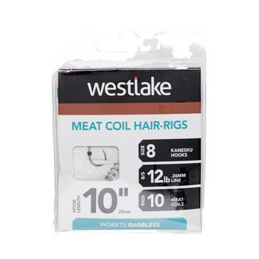 Silver Westlake Meat Coil Hair-Rigs (Size 8)