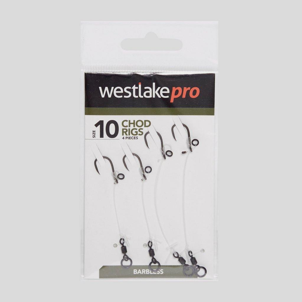 """Silver Westlake Meat Coil Hair Rigs 10"""" Size 12 image 1"""
