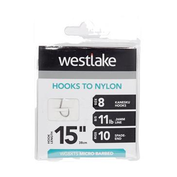 """Silver Westlake Extra Strong Barbed Hooks 15"""" Size 8"""