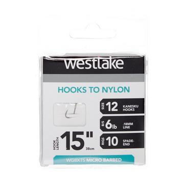 """Silver Westlake Extra Strong Barbed Hooks 15"""" Size 12"""