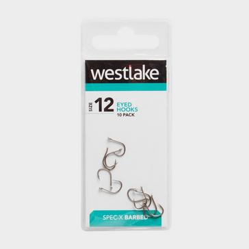 Silver Westlake Barbed Eyed Hooks (Size 12)