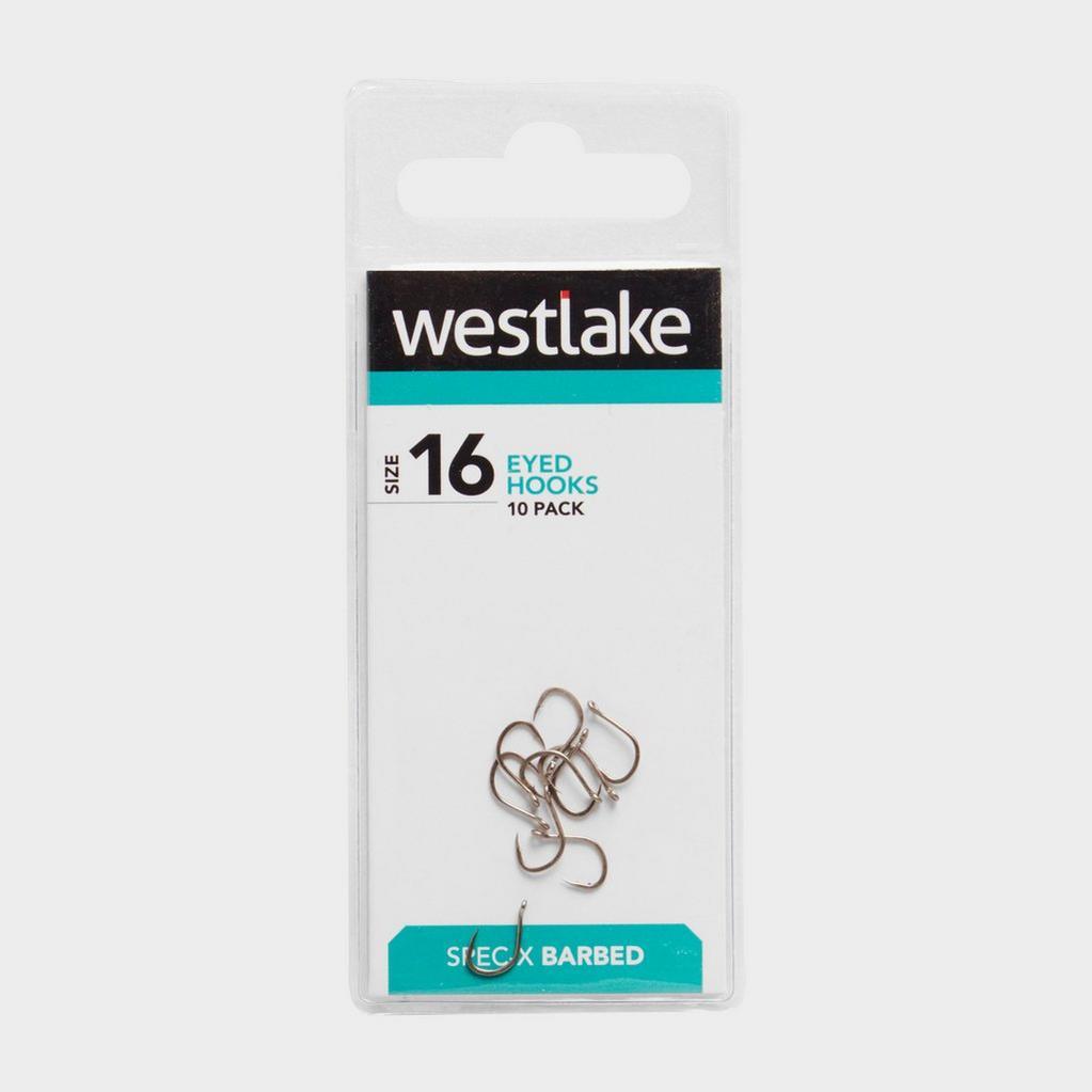Silver Westlake Eyed Barbed Hooks (Size 16) image 1