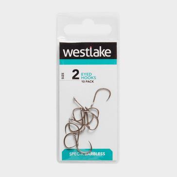 Silver Westlake Barbless Eyed Hooks (Size 2)