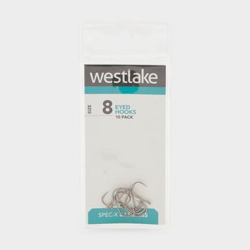 Silver Westlake Barbless Eyed Hooks (Size 8)
