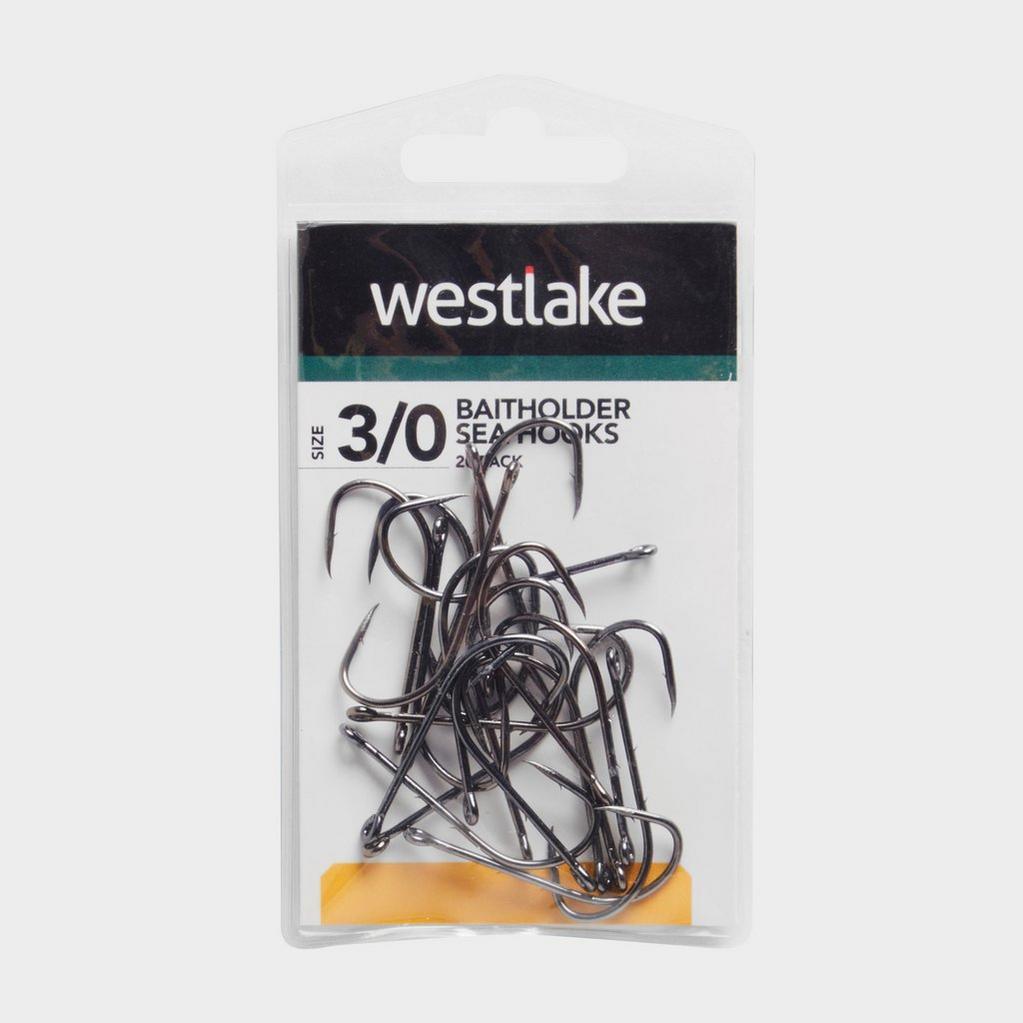 Silver Westlake Baitholder Sea Hooks Size 3/0 - 20 Pack image 1