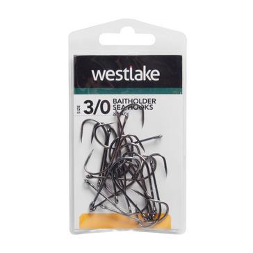Silver Westlake Baitholder Sea Hooks Size 3/0 - 20 Pack