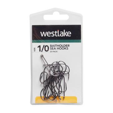 Black Westlake Baitholder Hooks (Size 1/0)