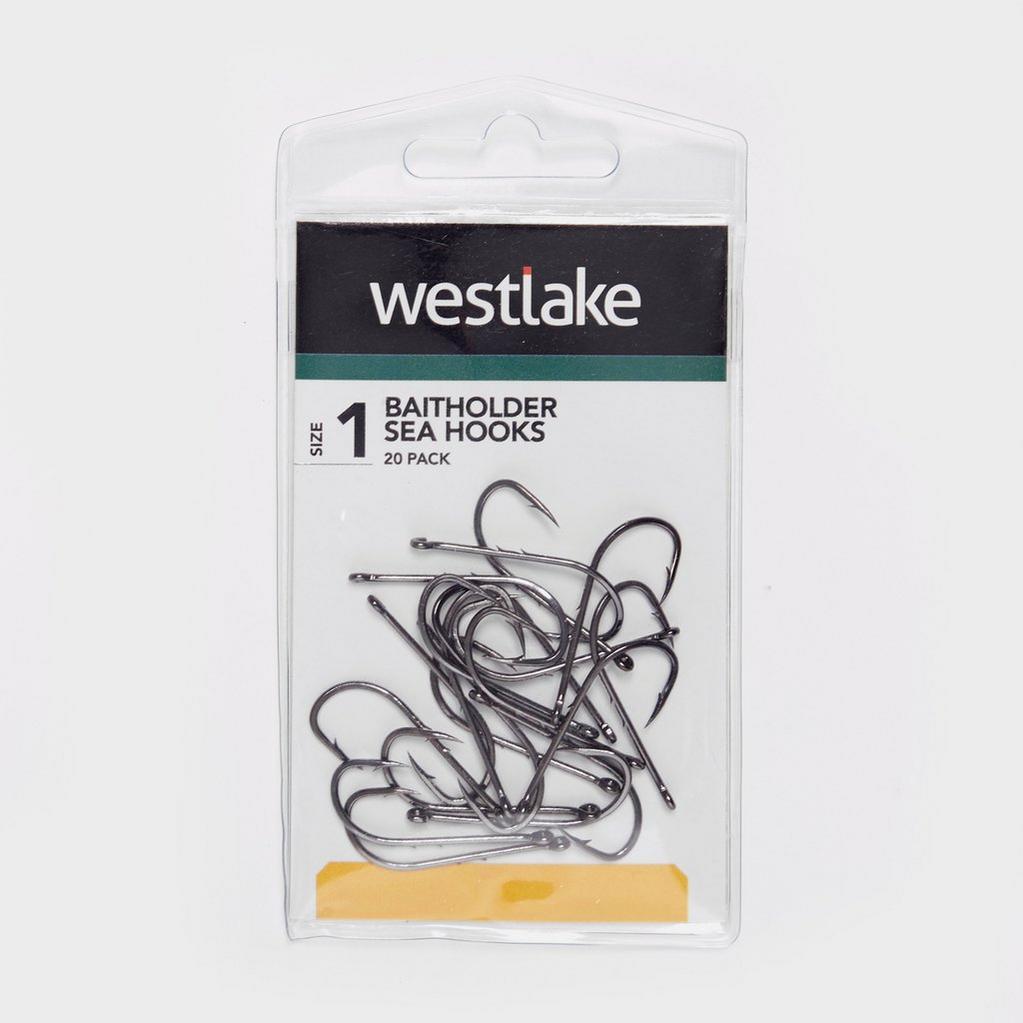 Silver Westlake Baitholder Sea Hooks Bronze Size 1 - 20 Pack image 1