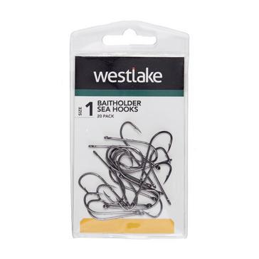 Silver Westlake Baitholder Sea Hooks Bronze Size 1 - 20 Pack
