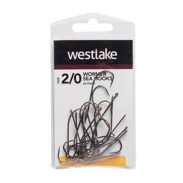 Black Westlake Worm Hooks (Size 2/0)
