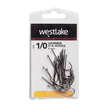 Black Westlake Worm Hooks (Size 1/0)