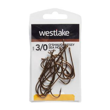 Brown Westlake O'Shaughnessy Sea Hooks (Size 3/0)