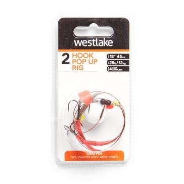 Clear Westlake 2 Hook Pop Up Rig (Size 4)