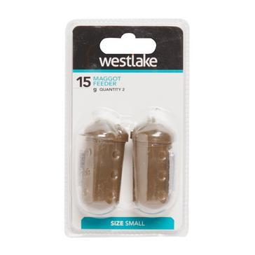 Brown Westlake Maggot Feeder Small 15g (2 Pack)