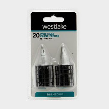 Silver Westlake Wire Cage Inline Feeder in Medium (20g)