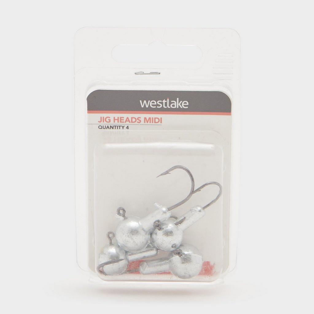 Silver Westlake Jig Heads Midi (Pack of 4) image 1