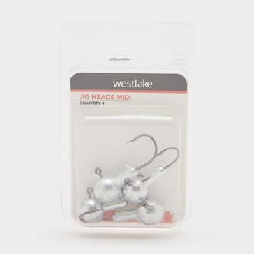 Silver Westlake Jig Heads Midi (Pack of 4)