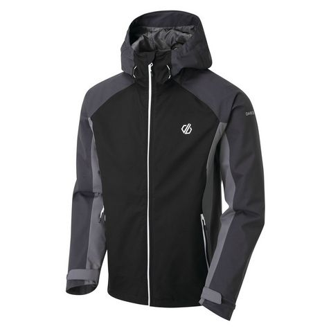 Dare2b Men/'s Recode Lightweight Hooded Waterproof Jacket Black
