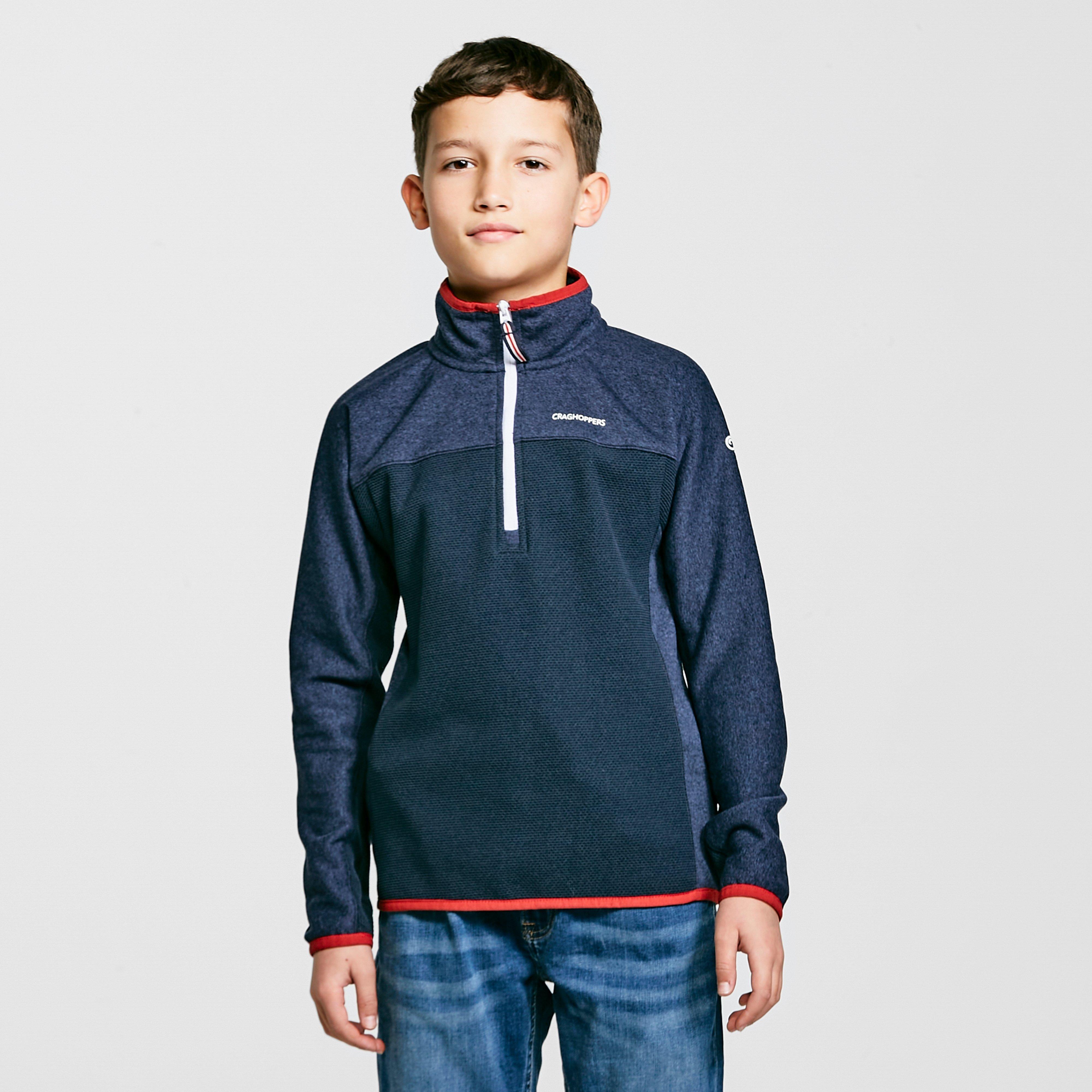 Craghoppers Boys Abilio Insualted Half Zip Fleece Jacket