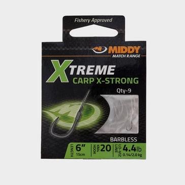 Silver Middy Xtreme Carp X-Strong Hook to Nylon (Size 20)