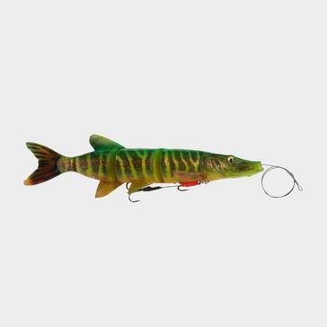 Green SavageGear 4D Line Thru Pike 25Cm 110G Ss Fire Tiger