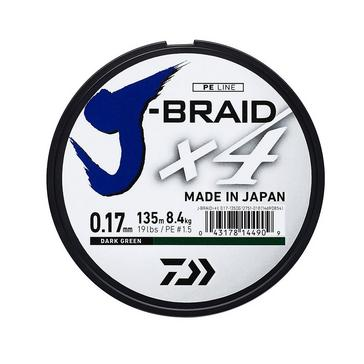 White Daiwa J Brd X4E 0.25Mm 135M Dark Grn