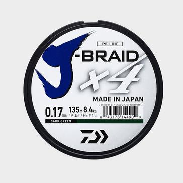Silver Daiwa J Brd X4E 0.29Mm 135M Dark Grn